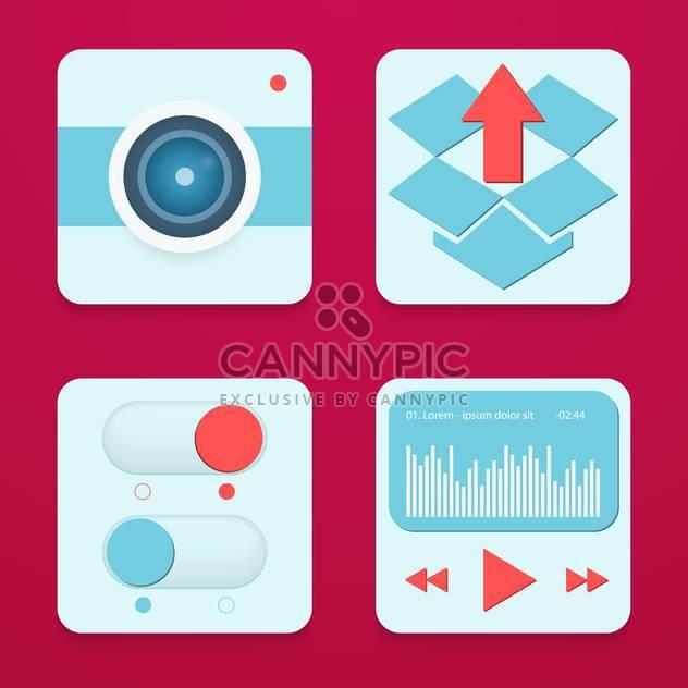 Handy-apps und Dienste-Symbole - Free vector #133879