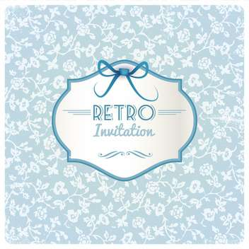 retro invitation holiday frame - vector #133929 gratis