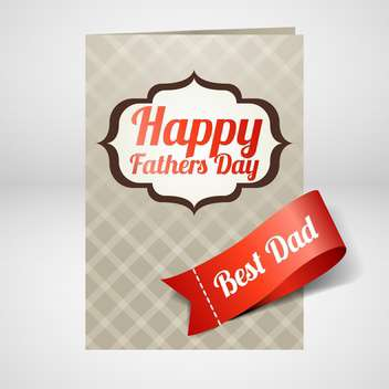 happy father's day card - vector #133939 gratis