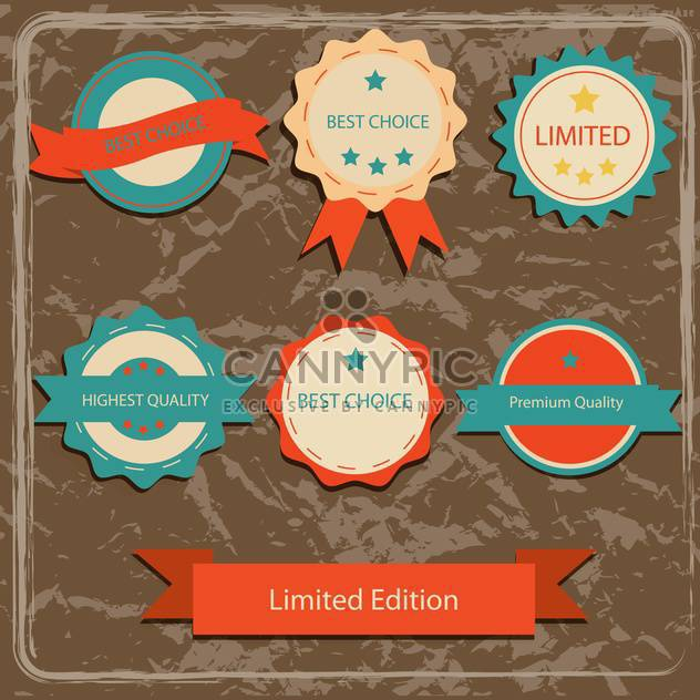 collection of high quality labels - Free vector #133959
