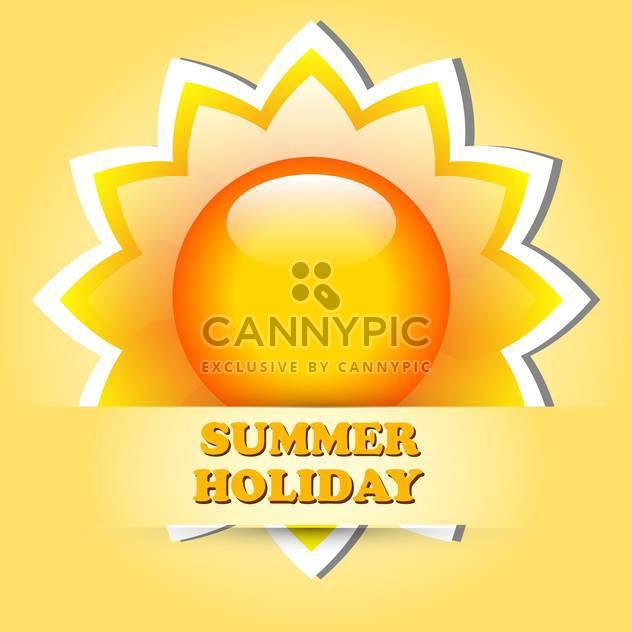 summer holiday vacation illustration - Free vector #133979