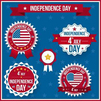 vector independence day badges - vector gratuit #134029