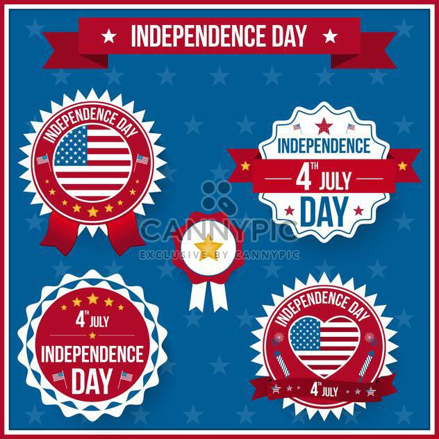 vector independence day badges - Free vector #134029