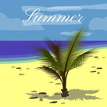 summer holiday vector background - vector gratuit #134089