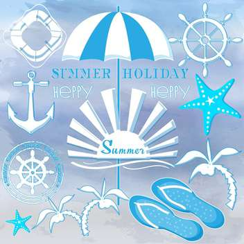 summer holiday signs set - vector gratuit #134169