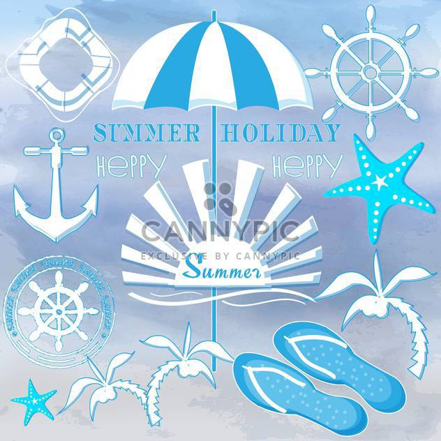 summer holiday signs set - Free vector #134169