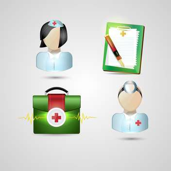 medicine ambulance icons set - vector gratuit #134179