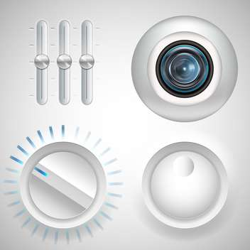 twister, fader and webcam eye media set - vector gratuit #134199