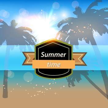 summer time vacation banner - vector gratuit #134209