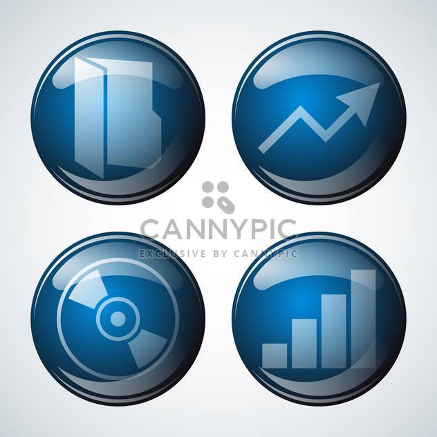 abstract business icon set - Free vector #134259