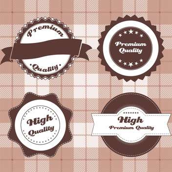 vintage design emblems set - Free vector #134269