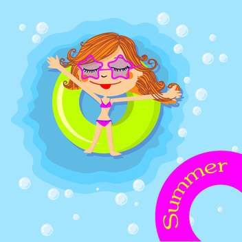 summer holidays greeting card - vector #134289 gratis