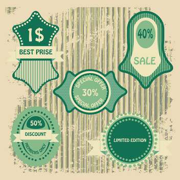 sale shopping signs labels set - бесплатный vector #134409