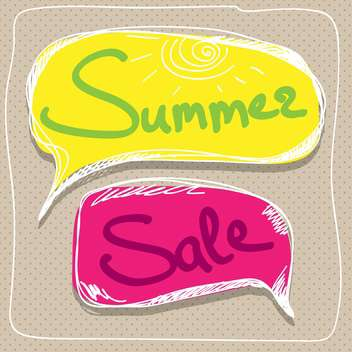 summer sale speech bubbles - vector gratuit #134419