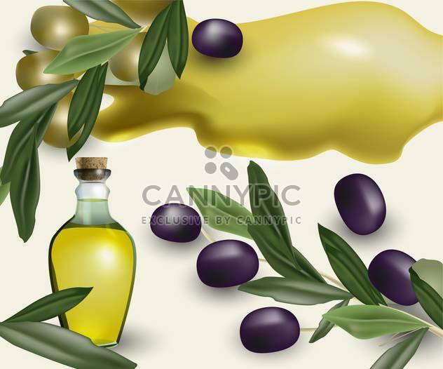 ripe olive oil bottle background - Free vector #134549