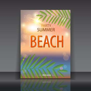 summer time poster background - vector gratuit #134609