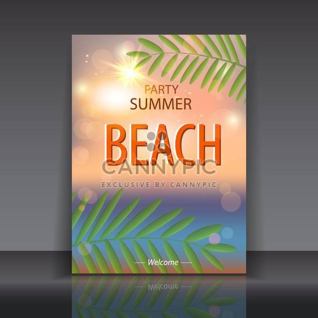 Sommerzeit-Poster-Hintergrund - Kostenloses vector #134609