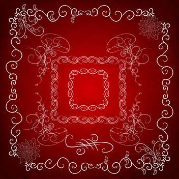 abstract ornate decorative frame - vector gratuit #134639