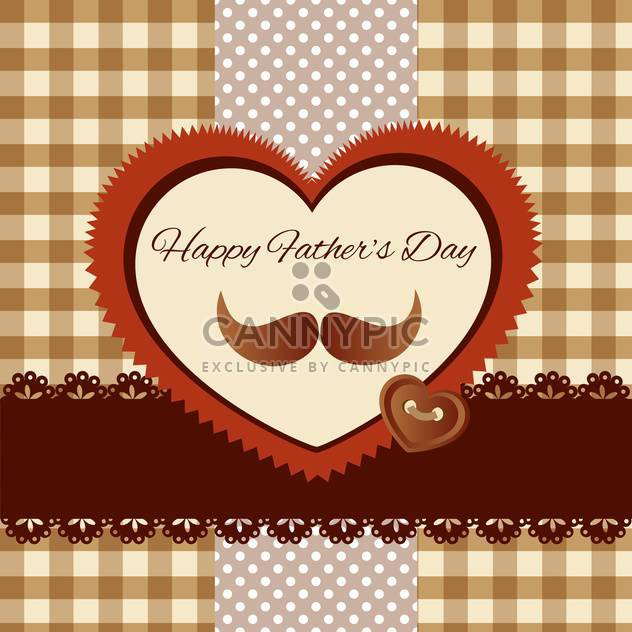 happy fathers day vintage card - Free vector #134649
