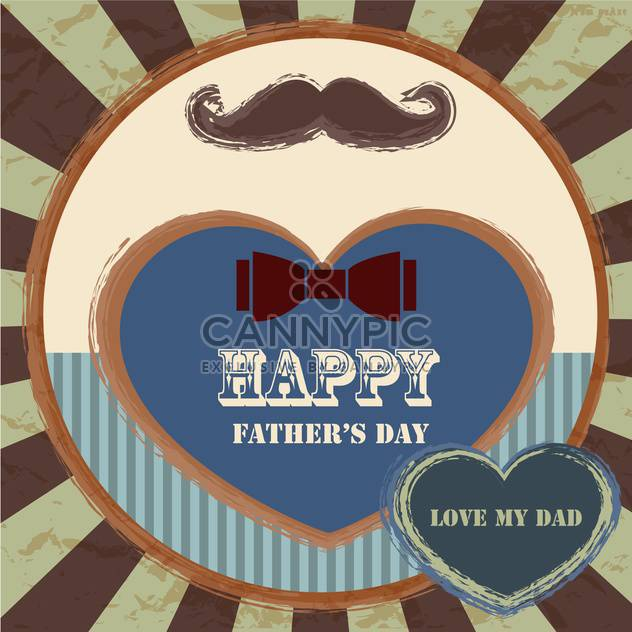 happy fathers day vintage card - Free vector #134659