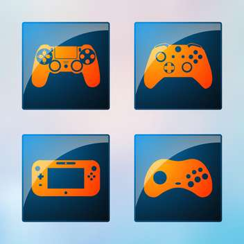 video game icons set - vector gratuit #134689