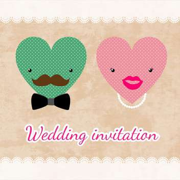 wedding invitation card template - vector gratuit #134729