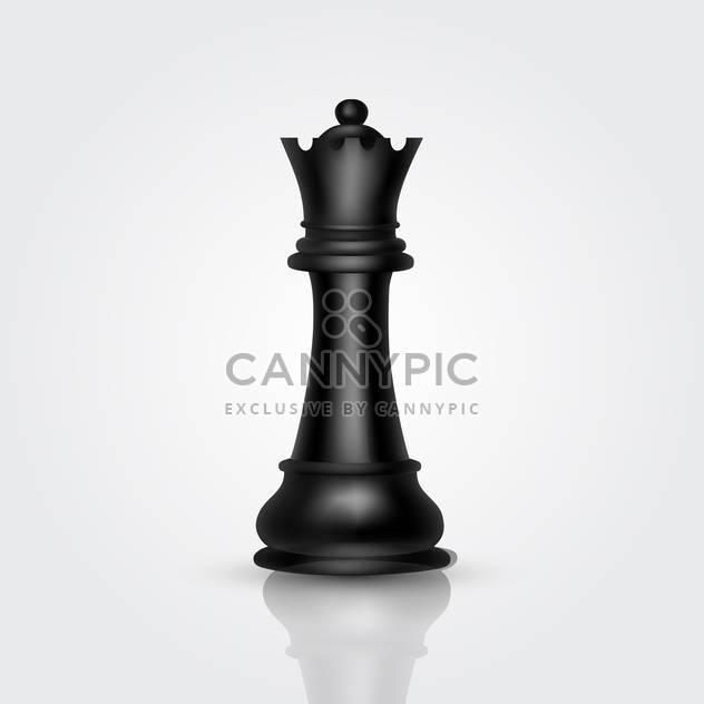 schwarzer König Chessman Vektor-Illustration - Kostenloses vector #134789