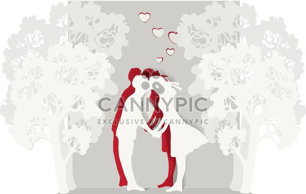 küssen-Paar in Liebe Valentinstag Hintergrund - Free vector #134909