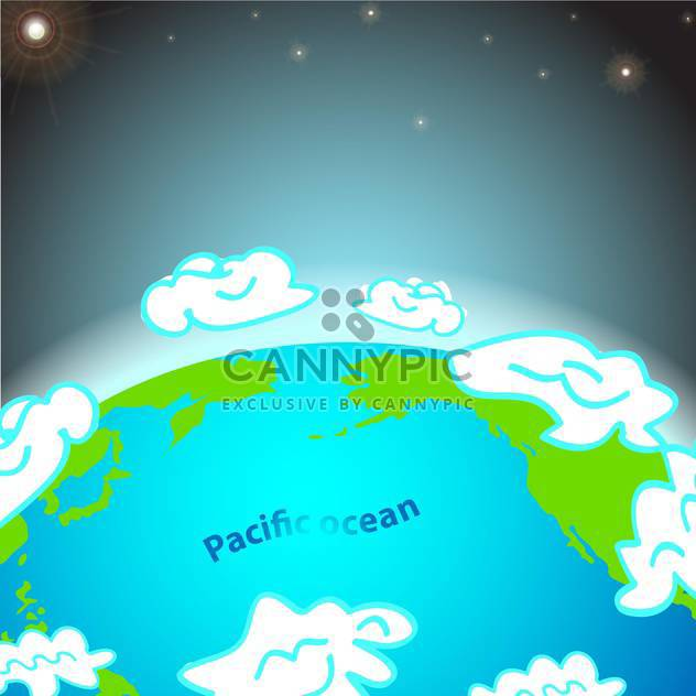 illustration of pacific ocean on earth - Free vector #134919