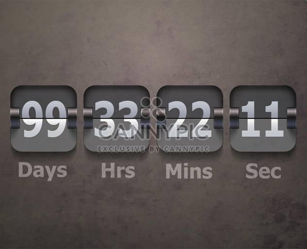 flip clock banner background - Free vector #134949
