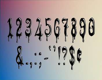 wax numbers punctuation marks - Free vector #134969