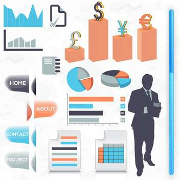 business icons set background - бесплатный vector #134979