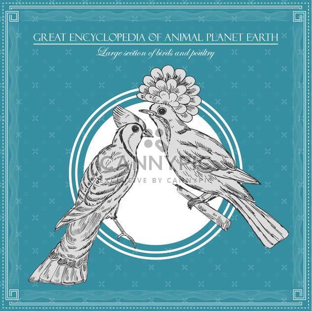 birds illustration in great encyclopedia of animal - Free vector #134999