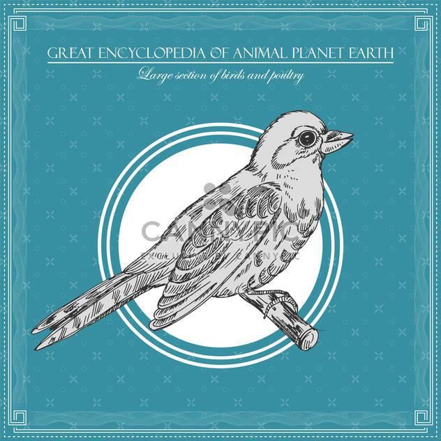 Vögel-Illustration im großen Enzyklopädie des Tieres - Kostenloses vector #135019