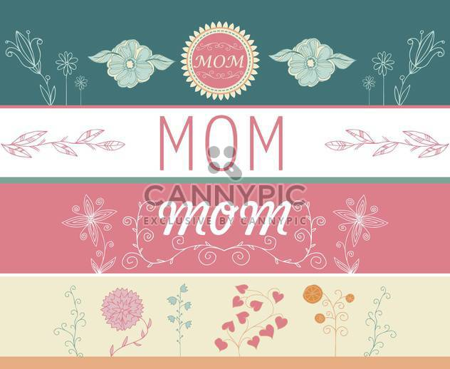 mother's day greeting banners with spring flowers - Free vector #135049