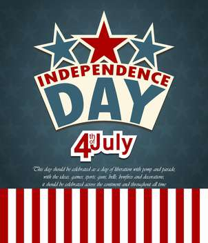 usa independence day card with flag background - vector gratuit #135069
