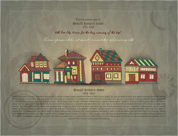 retro document of small historic town - vector gratuit #135129