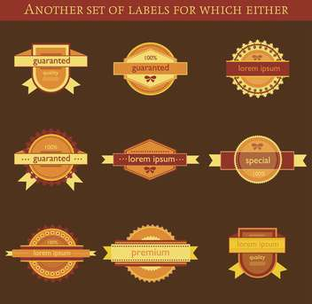 set of retro vector labels and badges background - бесплатный vector #135199
