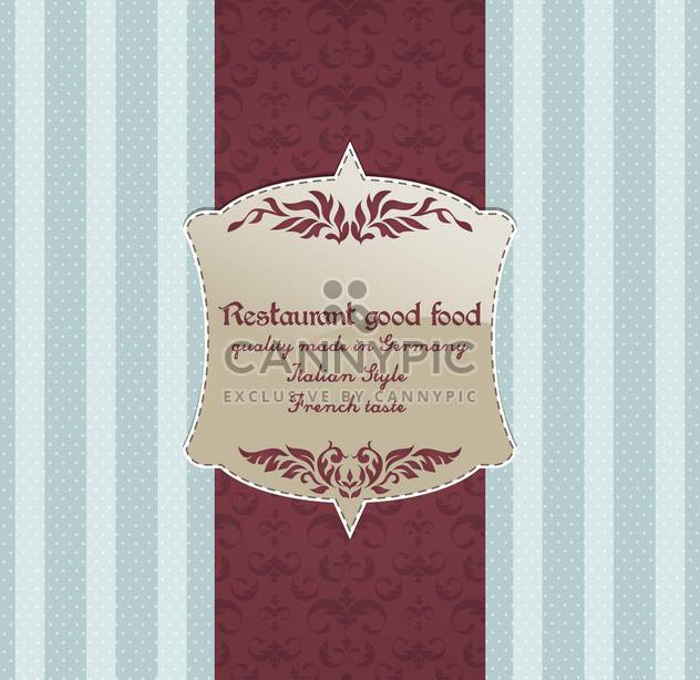 restaurant menu vector design background - Free vector #135219