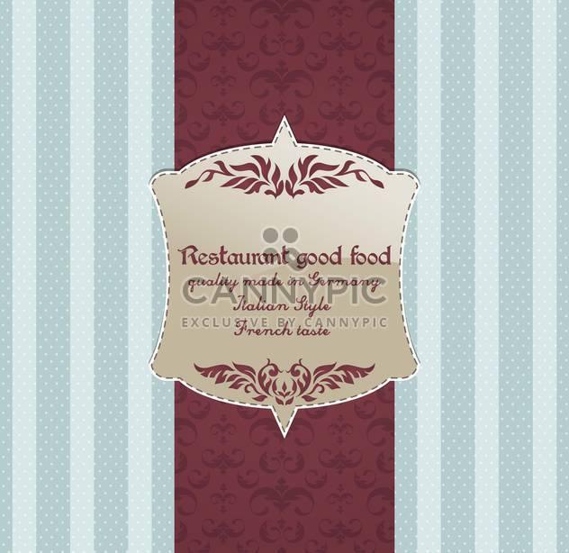 Restaurant-Menü-Vektor-Design-Hintergrund - Kostenloses vector #135219