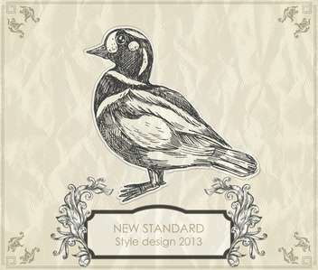 vintage hand-drawing duck vector illustration - Kostenloses vector #135239