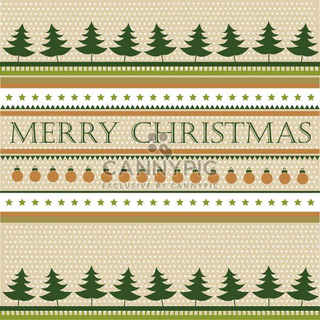 Retro christmas holiday background with fir trees - Free vector #135299