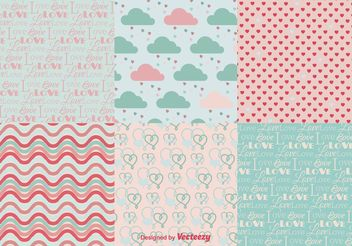 Love Backgrounds Patterns - Kostenloses vector #138669