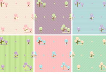 Pastel Forest Vector Backgrounds - Free vector #138699