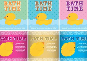 Bath Time Vector Backgrounds - vector gratuit #138729