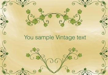 Vintage Ivy Frame Vector - vector #138799 gratis