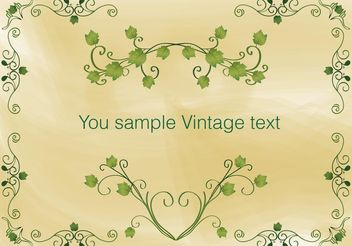 Vintage Ivy Frame Vector - vector gratuit #138799