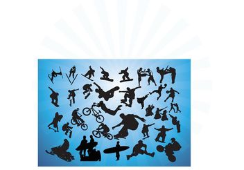 Action Sports Vectors - vector gratuit #138869
