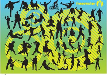 Active People - vector gratuit #138879