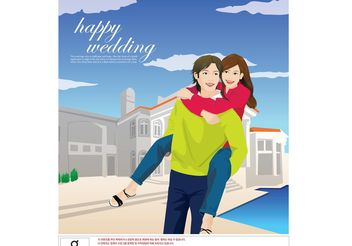 Big Love, Happy Couple - vector gratuit #138909
